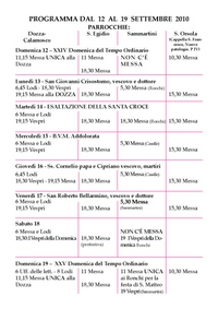 Programma_Dozza-Calamosco,Sammartini,S.Egidio,S.Orsola,5-12set2010