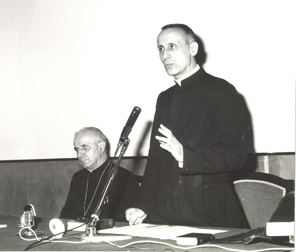 Dossetti con il cardinal Pellegrino 1966