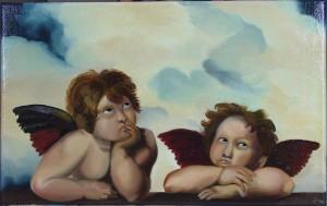 angeli Madonna Sistina 35x50