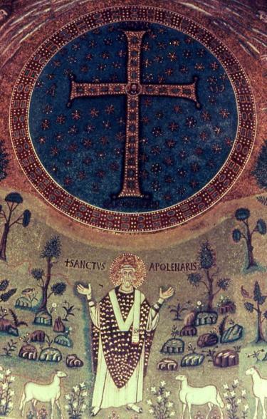 Mosaico absidale di sant'Apollinare in Classe La Trasfigurazione, particolare