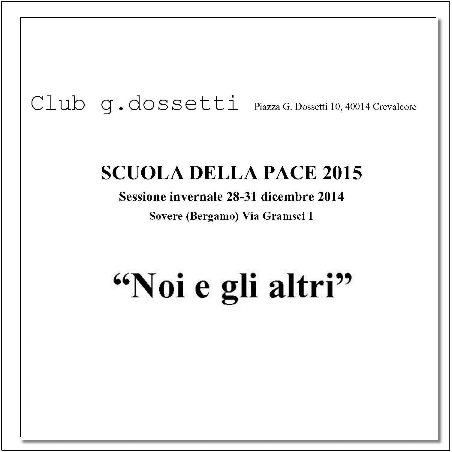 Scuola della pace invernale 2015