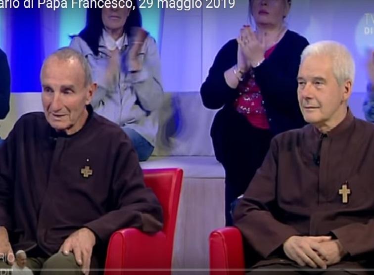 Giovanni e Francesco il 29 maggio scorso a TV 2000