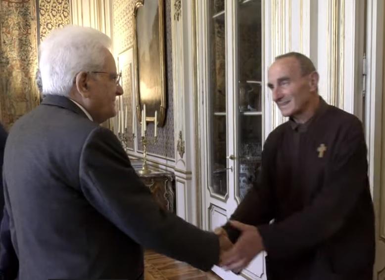 Delegazione nazionale delle A.C.L.I. ricevuta dal presidente della Repubblica Mattarella