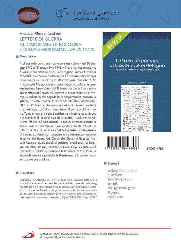 Lettere di guerra al Cardinale di Bologna